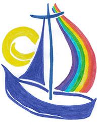 Logo entwurf 1gespiegelt200 unser kindergarten in der au for Spiegel geschichte logo